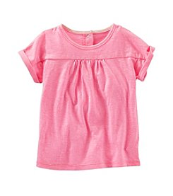 OshKosh B'Gosh® Girls' 4T Solid Jersey Short Sleeve Tee
