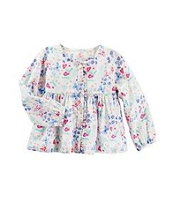 OshKosh B'Gosh® Girls' 2T-6X Floral Lace Long Sleeve Top