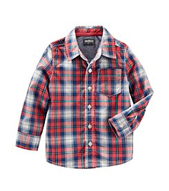 OshKosh B'Gosh® Boys' 2T-7 Long Sleeve Plaid Woven Top