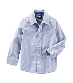OshKosh B'Gosh® Boys' 2T-7 Long Sleeve Striped Woven Top
