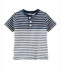 OshKosh B'Gosh® Boys' 2T-7 Short Sleeve Striped Henley