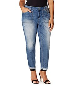 Vintage America Blues™ Plus Size Boyfriend Jeans With Porkchop Pocket