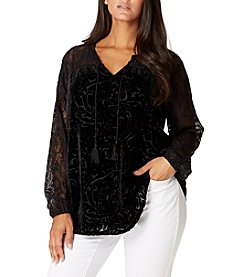 Vintage America Blues™ Plus Size Lace Peasant Top