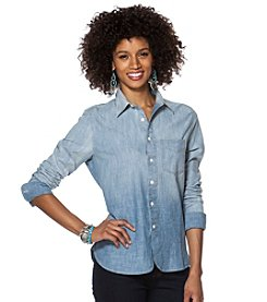 Chaps® Chambray Ombre Long Sleeve Shirt