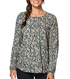 Chaps® Crinkle Garden Long Sleeve Blouse