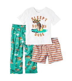 Carter's® Baby Boys 3-Piece Surf Dude Pajama Set