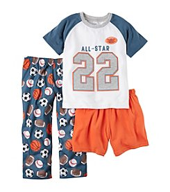 Carter's® Boys' 5-12 3-Piece All-Star Pajama Set