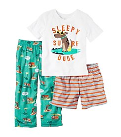 Carter's® Boys' 4-8 3-Piece Surf Dude Pajama Set