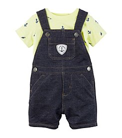 Carter's® Baby Boys' 2-Piece Denim Overalls And Yellow Tee