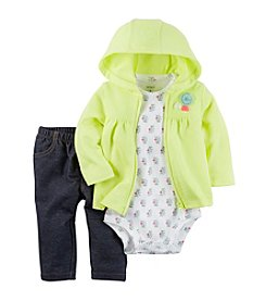 Carter's® Baby Girls' 3-Piece Geo Bodysuit, Leggings And Cardi Set