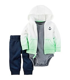 Carter's® Baby Boys 3-Piece Striped Bodysuit, Pants And Cardigan Set