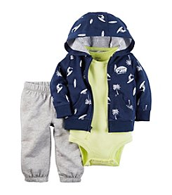 Carter's® Baby Boys 3-Piece Solid Bodysuit, Pants And Cardigan