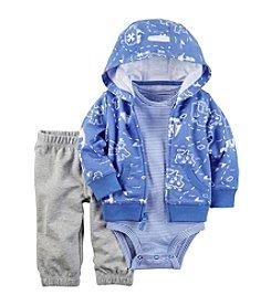 Carter's® Baby Boys 3-Piece Striped Bodysuit, Pants And Cardi Set