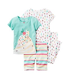 Carter's® Girls' 4-Piece Sundae Printed Set