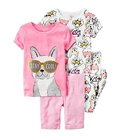 Carter's® Baby Girls' 4-Piece French Bulldog Set