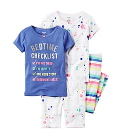Carter's® Girls' 4-Piece Bedtime Checklist Pajama Set