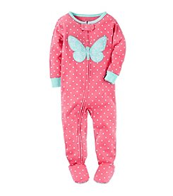 Carter's® Girls' Polka-Dot Butterfly Footie