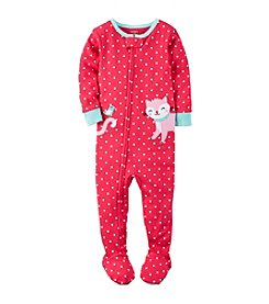 Carter's® Girls' 2T-4T Polka-Dot Kitty 1-Piece