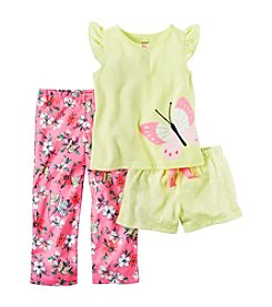 Carter's® Girls' 2T-14 3-Piece Butterfly Pajama Set