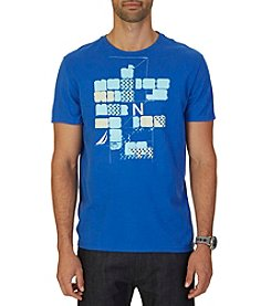 Nautica® Men's Short Sleeve Blocked Graphic Tee