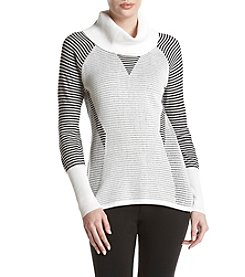 Calvin Klein Striped Cowl Neck Sweater