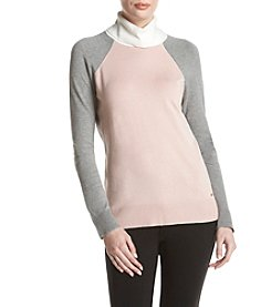 Calvin Klein Color Block Turtleneck Sweater