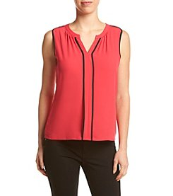 Calvin Klein Split Neck Blouse