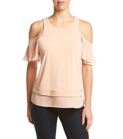 Ivanka Trump® Cold Shoulder Knit Top