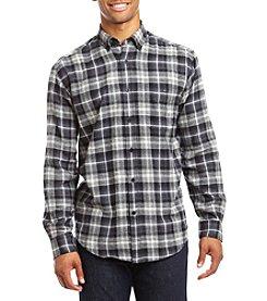 John Bartlett Consensus Men's Big & Tall Ombre Flannel Long Sleeve Button Down Shirt