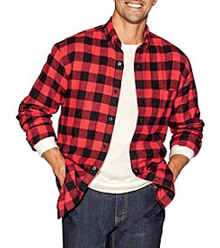 John Bartlett Consensus Men's Big & Tall Buffalo Check Flannel Long Sleeve Button Down Shirt