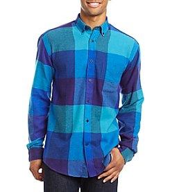 John Bartlett Consensus Men's Big & Tall Check Flannel Long Sleeve Button Down Shirt