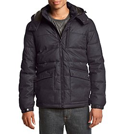 Nautica Men's Big & Tall Brushed Herringbone Zip Front Jacket