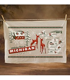Peninsulas Michigan Holiday Towel