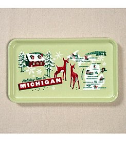 Peninsulas Michigan Holiday Tray