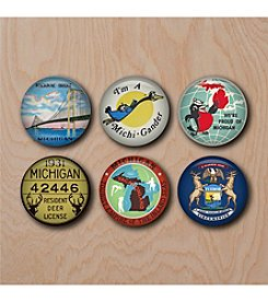 Peninsulas Michigan Magnet Set
