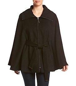 Calvin Klein Belted Zip Cape Coat