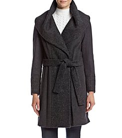Calvin Klein Tie Front Jacket With Exaggerated Collar