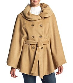 Calvin Klein Tie Front Cape Coat