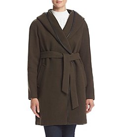 Calvin Klein Hooded Tie Front Jacket