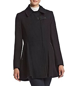 Calvin Klein Asymmetrical Zip Flared Coat