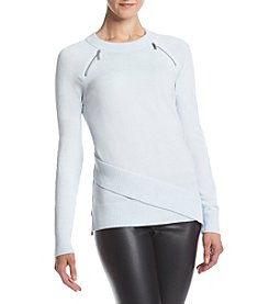 Ivanka Trump® Zip Shoulder Sweater