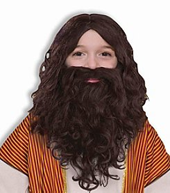 Biblical Wig and Beard Child Set