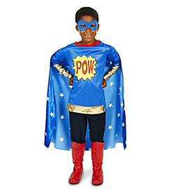 Pop Art Comic Super Hero POW Boy Child Costume