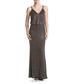 Calvin Klein Glitter Knit Gown