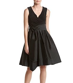 Adrianna Papell® Draped Top Fit And Flare Dress