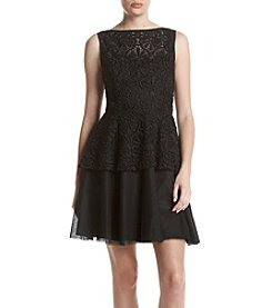 Adrianna Papell® Peplum Lace Dress
