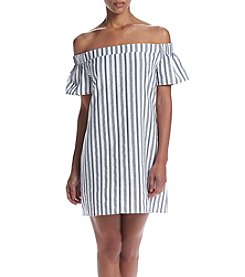 Swat Off-Shoulder Gauze Dress