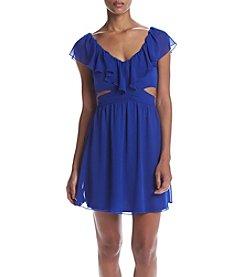 Speechless® Ruffle Cold-Shoulder Dress