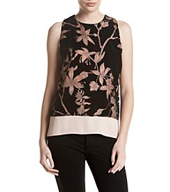 Ivanka Trump® Velvet Burnout Knit Top