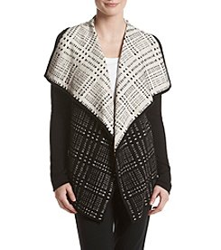 Ivanka Trump® Jacquard Long Open Cardigan